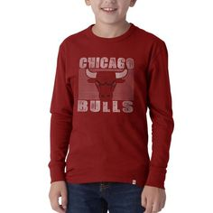 3a9fb0bbb010f  47 Brand Chicago Bulls Youth Flanker Logo Long Sleeve T-Shirt - Red