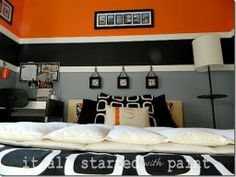 orange and black room - ideas - Google Search