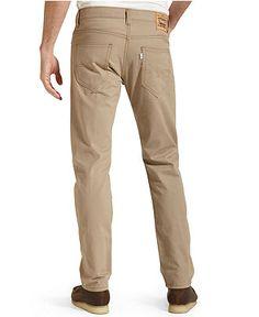 Levi's Jeans, 508 Regular Taper Brushed Twill, British Khaki - Jeans - Men - Macy's