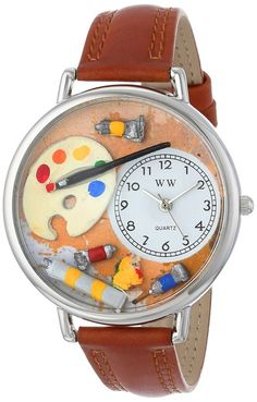 Whimsical Watches Unisex U0410002 Artist Red Leather Watch