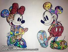 Art disney, disney images, disney pictures, disney tattoos mickey, disney m Disney Tattoos, Mickey And Minnie Tattoos, Mickey Tattoo, Retro Disney, Disney Art, Disney Movies, Disney Characters, Disney Collage, Mickey Mouse Wallpaper