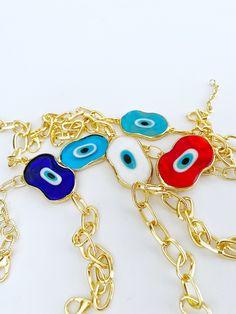 Evil Eye Jewelry, Evil Eye Bracelet, Eye Meaning, Eye Protection, Hamsa, Murano Glass, Gold Chains, Charmed, Etsy Shop