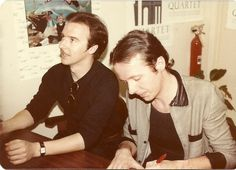 Signing for the fans!  Midge Ure and Billy Currie from Ultravox