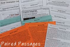 Holiday Themed Paired Passages with Close Reading Activities - These are perfect for Halloween, Thanksgiving, Christmas, New Years, Valentines Day, and so much more!!!