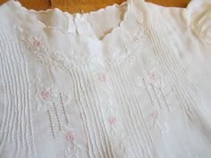 So Sweet 1920s Baby Dress with Slip Hand Embroidered