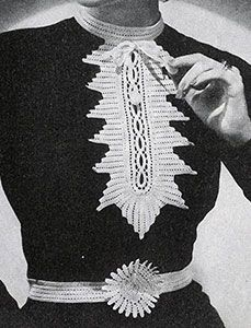 Peasant collar and cuffs pattern 2122 free crochet patterns find this pin and more on free crochet patterns dt1010fo