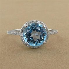 Carribean Blue Diamond....propose on the beach and this will always remind me of the water