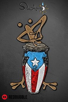 #Coqui #Taino #Conguero #CoquíTaíno playing the #Conga. #Coquí is the common name for several species of small frogs native to #PuertoRico. #boricua #TainoArt #Boriken #salsa #bomba #plena #jibaro #FaceMask #Tshirts #Stickers #FindYourThing #SoLunAgua Puerto Rico Tattoo, Puerto Rico Trip, Puerto Rico History, Puerto Rican Power, Puerto Rican Flag, Coqui Taino, Taino Symbols, Puerto Rico Pictures, Small Frog