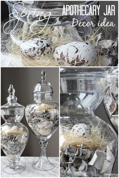 Spring Apothecary Jar Decor Idea