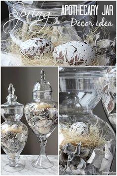 Spring Apothecary Jar Decor Idea