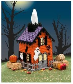 Haunted House Tissue Box Cover Pg.1/11