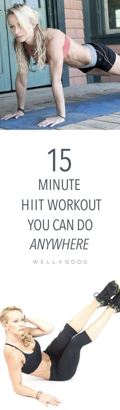 Zuzka Light's 15-minute HIIT workout you could do anywhere