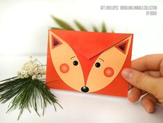 Set 10 Gift envelopes Woodland Fox / Funny envelopes / Cute envelopes / Woodland animals / Fox envelope / Envelopes for gifting / Envelopes by DosheEcoDecorCharms on Etsy