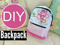 DIY Ombre Backpack for Back to School | by Michele Baratta - YouTube