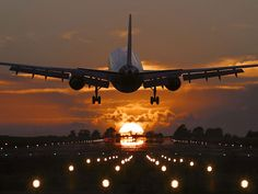 taking off into the sunset
