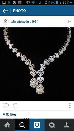 Diamond Necklaces : Nc - Buy Me Diamond Real Diamond Necklace, Diamond Pendant, Diamond Jewelry, Gold Jewellery, Diamond Dreams, Jewellery Sketches, Jewelry Patterns, Necklace Designs, Luxury Jewelry