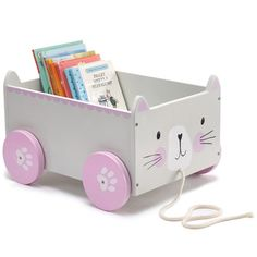 Book Storage Cart - Miss Cat