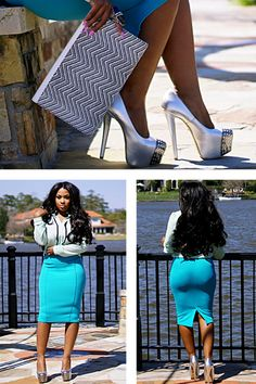 Church outfit, but her butt could really take away from the sermon when she walks in and if she is feeling the words of the pastor and decides to stand up. So much for church.