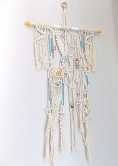 """Macrame Wall Hanging """"Treasure Hunt"""" by Himo Art, One of a kind Handcrafted Macrame via Etsy"""