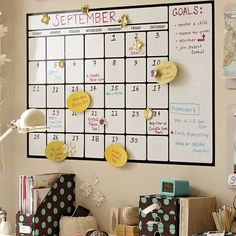 Dry-erase calendar decals are a convenient way to stay organized and are also easy to apply, reposition and remove.