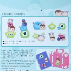 Toy Story Monsters Inc big stickers by Kamio Japan  2