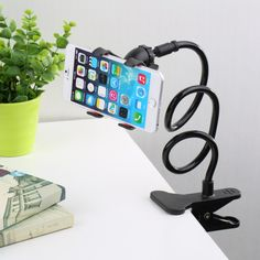 360 Rotating Flexible Long Arm Cell Phone Holder Stand for iphone or Samsung Phones