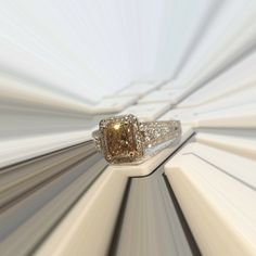 Natural Cognac Diamond anyone? This stunner has a center Natural Cognac Diamond that weighs 1.58ct surrounded with sparkling white diamonds! Contact us to get the Ring of your Dreams! #zhaveri #greatdeals #greatservice #luxury #ring #jewelry #jewellery #love #sxm #stmaarten #stmartin #sintmaarten #aruba #curacao #caribbean #fashion #fashionista Read more at http://web.stagram.com/n/zhaveri/#UKY4VWuA0LgOHGhU.99 Zhaveri @zhaveri Instagram photos | Websta