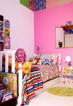 I need a little girl... I love how lived in and eclectic this room looks