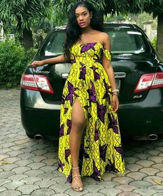 African Clothing, African Print, Ankara High-slit Dress, Ankara style – African Fashion Dresses - African Styles for Ladies African Fashion Designers, African Print Fashion, Africa Fashion, Fashion Prints, Modern African Fashion, Ghana Fashion, African Print Dresses, African Fashion Dresses, African Outfits