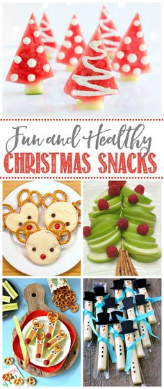 healthy christmas recipes Lots of fun and healthy Christmas snacks! Perfect for Christmas parties, class treats, or just a fun holiday treat! Great ways to balance out all of the junk food this season. Christmas Party Snacks, Healthy Christmas Treats, Xmas Food, Christmas Cooking, Christmas Goodies, Holiday Treats, Christmas Fun, Holiday Fun, Christmas Cocktails
