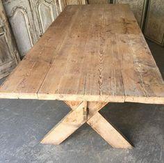 Early 19th Century Swedish Trestle Table 4