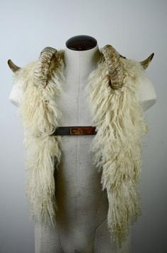 Wool and ram's horn.