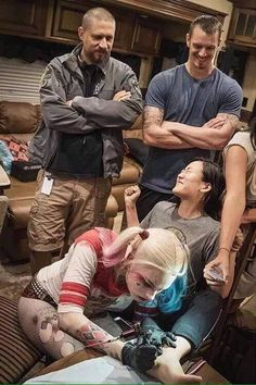 David Ayer, Joel Kinnaman and Margot Robbie (Suicide Squad)