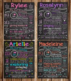 Customized Custom Chalkboard Poster Sign for First Birthday Party - DIY Printable File - Infographic Photoshoot Prop and Keepsake Cute idea! Boy First Birthday, Birthday Board, First Birthday Parties, First Birthdays, Beatles Birthday, Birthday Signs, Birthday Photos, Birthday Ideas, Birthday Posters