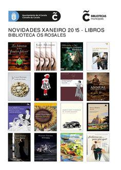 Novelas e libros de materias, dispoñibles para levar en préstamo, na Biblioteca Os Rosales.