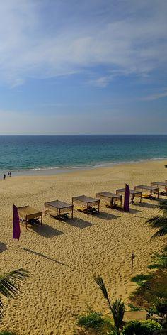 beach front view of Andaman White Beach Resort at Nai Thon Beach, Phuket, Thailand.