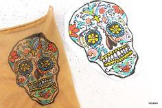 Tutorial como hacer un tatuaje falso para Halloween con medias de nylon
