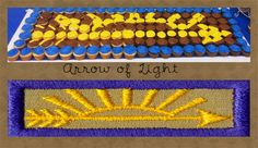 arrow of light cup cakes for Blue and Gold Banquet