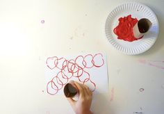 Cardboard Roll Heart Stamp | 14 DIY Valentine's Day Crafts For The Kids