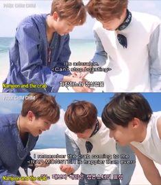 Namjoon and his crabs<< he's so precious I love him