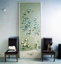 Designing the Nest: DIY Framed Vintage Wallpaper