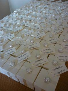Custom Elegant Pearl and Diamante Ivory or White Wedding Favour (Favor) Box   eBay