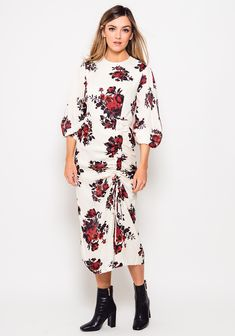 Floral Midi Dress, Cold Shoulder Dress, Trends, Sleeves, Wedding, Dresses, Fashion, Valentines Day Weddings, Vestidos