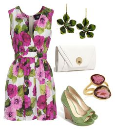 """""""Garden Party"""" by bonnaroosky ❤ liked on Polyvore featuring Pippa Small, Elliott Lucca, Via Spiga, 1928, D&G, pink, summer, spring, lavender and party"""