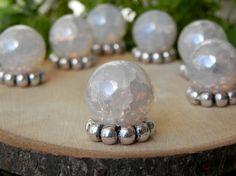 Fairy Garden Gazing Ball iridescent crackle by TheLittleHedgerow, $2.50