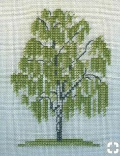 Cross Stitch Patterns Free Easy, Counted Cross Stitch Patterns, Cross Stitch Designs, Cross Stitch Embroidery, Embroidery Patterns, Cross Stitch Tree, Cross Stitch Flowers, Cross Stitch Landscape, Crochet Cross