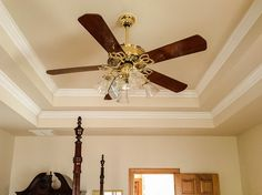 Ceiling fans are essential for staying comfortable during those super-hot summer days. Keeping air moving helps it stay cooler. In an outdoor setting, a ceiling fan will help to keep those pesky bugs away. At some point, your ceiling fan. Best Ceiling Fans, Ceiling Fan With Remote, Decor Interior Design, Interior Decorating, Home Magazin, Decorative Ceiling Fans, Moving Walls, Black Ceiling Fan, Container House Design