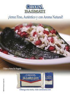 """Nuestra deliciosa receta de """"Chiles y arroz en nogada"""" en la edición de Octubre de la Revista Siempre Mujer."""