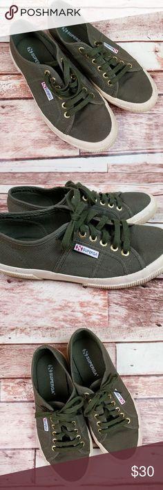Superga Shoes Like New Hardly Worn Army Green Superga Shoes Size 39. Make An Offer! Superga Shoes