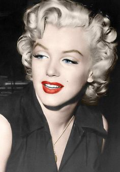 Platinum Hair and Red Lipstick - Classic
